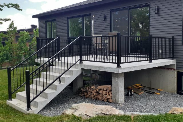 aluminium handrail balcony