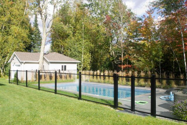 inground pool glass fence